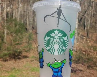 Disney Inspired Toy Story Aliens The Claw Personalized Starbucks Reusable Venti Cold Cup|Hot Cup Travel Mug|Tumbler
