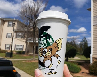 Personalized Gremlins Inspired Gizmo Starbucks Reusable Grande Cold Cup|Venti Cold Cup|Coffee Tumbler
