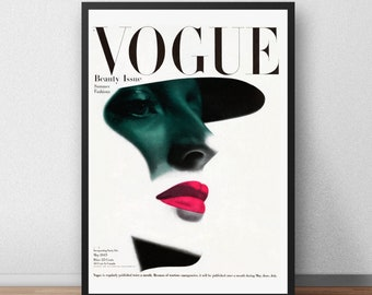 3 x Vogue Vintage Magazine Art Print Posters Vogue Vogue Italia Pink Poster