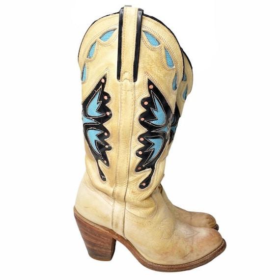 Vintage Miss Capezio butterfly western boots sz 7
