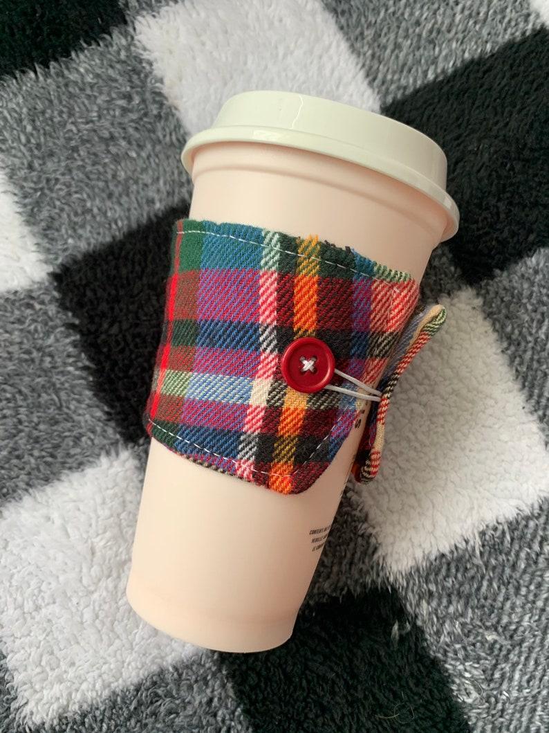 Plaid/flannel coffee cozy image 0