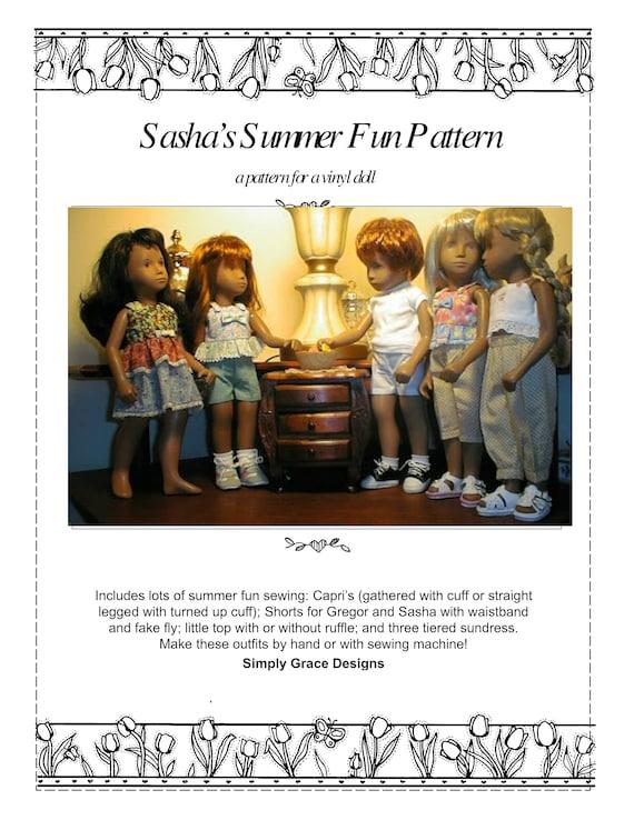 Kimono Pattern for the 16 in Sasha Doll ~ Simply Grace Designs