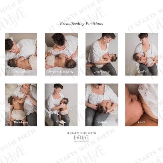 Postpartum Care Baby Breastfeeding Positions Etsy
