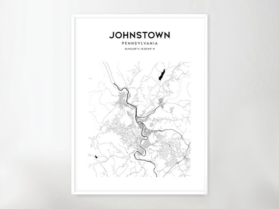 Of johnstown pa street map Maps