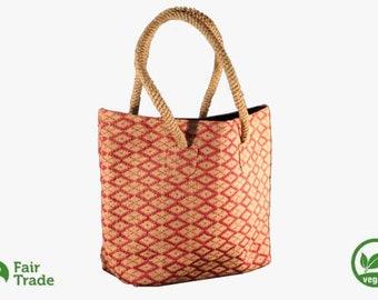 Handbag in jute - ecological - vegan - fair trade