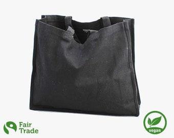 Cotton bag - large tote bag - organic - fairtrade