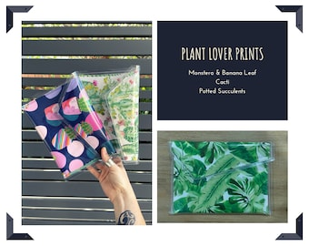 PVC Clutch Planter Lovers / Monstera and Banna leaf / Potted Succulents / Cacti