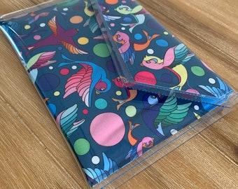 PVC clutch birds digital fabric art print | purse | bag | evening bag | everyday