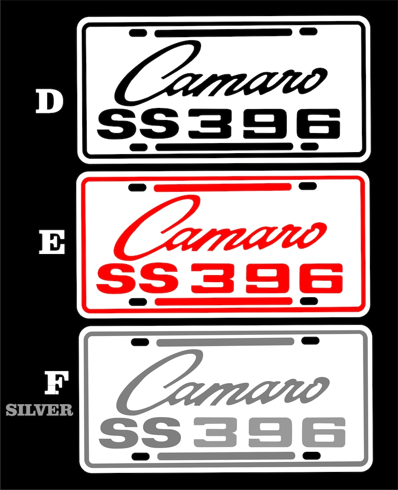 game room Garage Made in USA  6x12 Mount on your classic Car or hang as tin sign wall art Chevrolet Camaro SS  396 License Plate decor