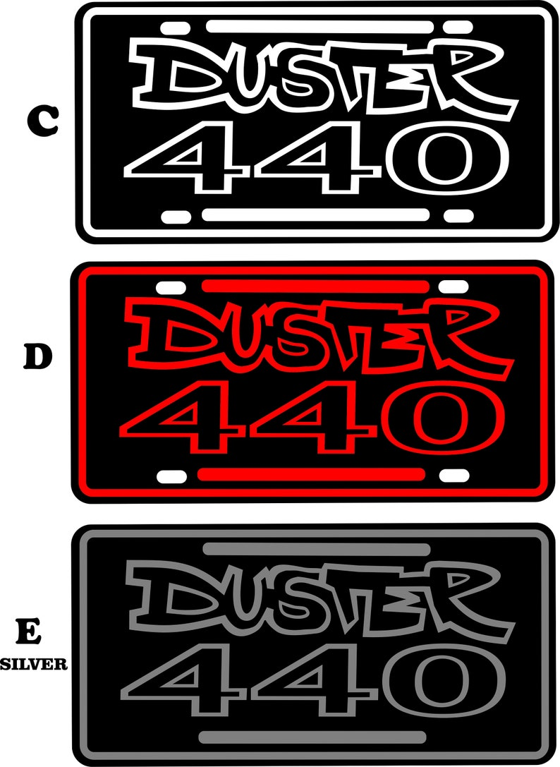 Garage Made in USA decor License Plate Plymouth Duster 440 Tin sign   Mount on your classic Car or hang as wall art