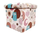 Foldable Stool Sitting and Storage Box for Toys of Kids
