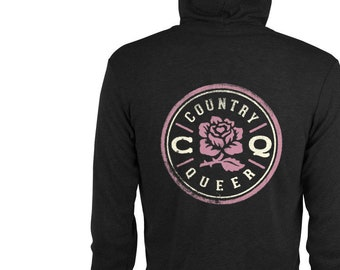 Rose-and-cream charcoal hoodie