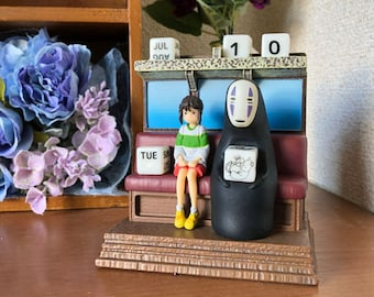 Studio Ghibli Spirited Away Perpetual Calendar Chihiro & No Face From Japan