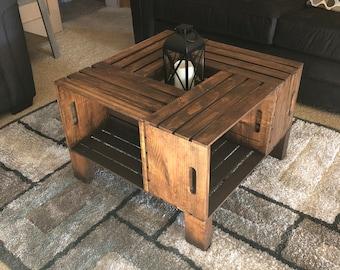 Astounding Wine Crate Coffee Table Etsy Uwap Interior Chair Design Uwaporg