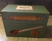 Vintage Tin Recipe Box