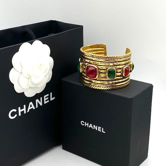 Chanel 1984 Gripoix Cuff