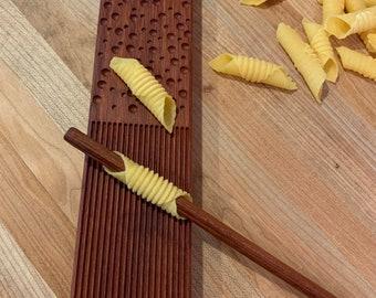 Jatoba pasta board, combination, gnochetti, garganelli & malloreddus