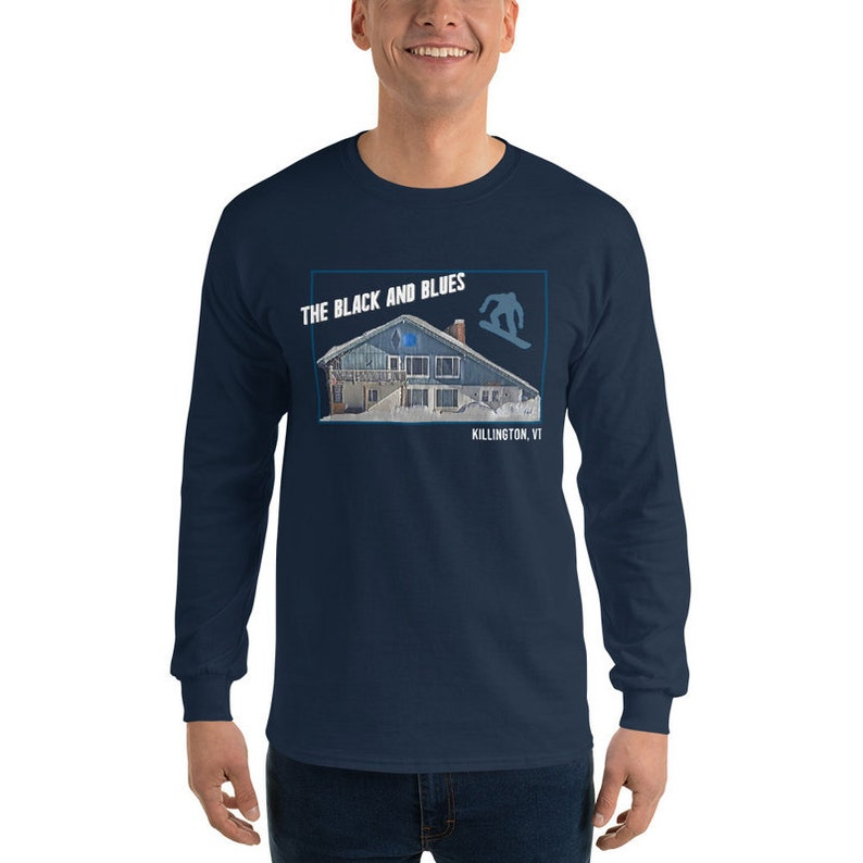 The Black and Blues Snowboard Navy Blue Long Sleeve T-shirts Custom Collection