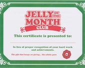 National Lampoon 39 s Christmas Vacation Jelly Of The Month Club Certificate
