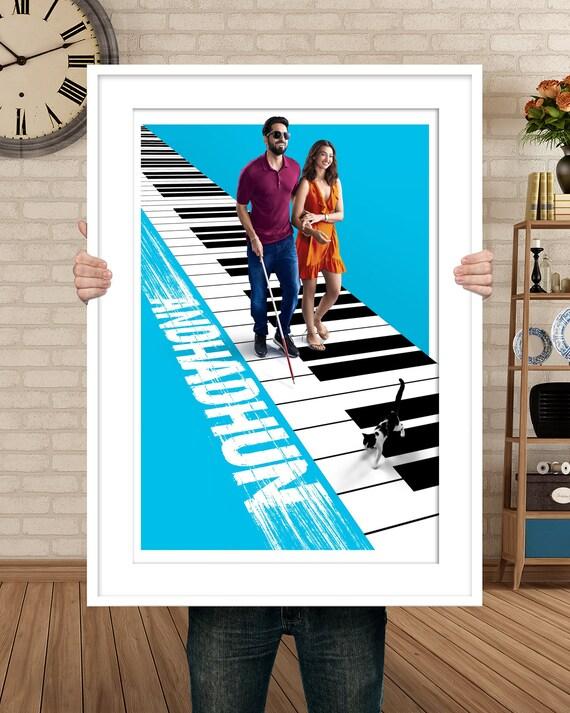 Andhadhun Movie Poster 2018 Movie Art Print 24x36 Inches Etsy