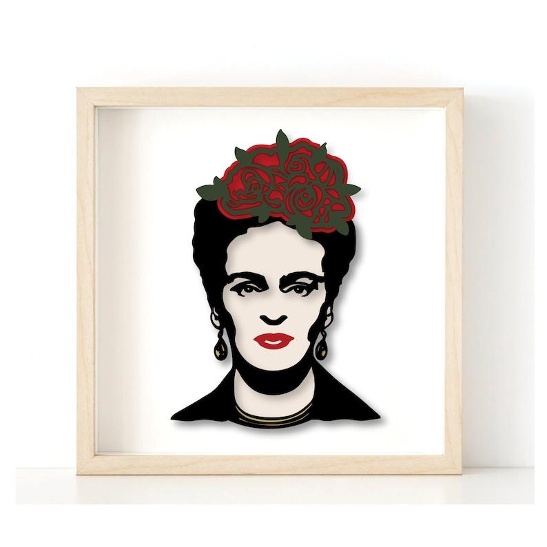 Frida Kahlo 3d SVG