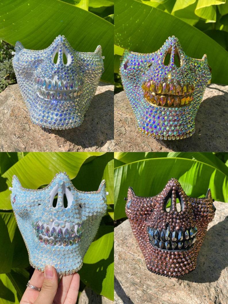Halloween skull mask skulls Rave, music festival festival Moonlight skull mask: face mask