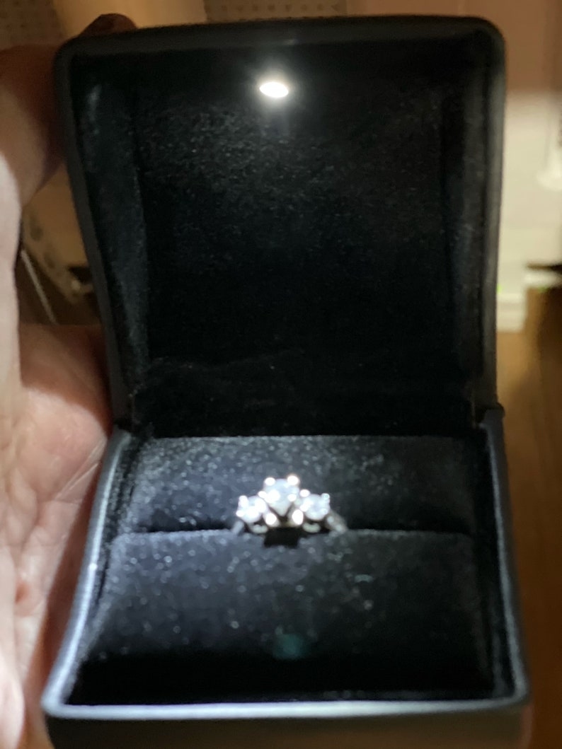 Personalized Light-Up Engagement Ring Box