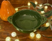 Vintage Fiestaware Forest Green Cream Soup Cup