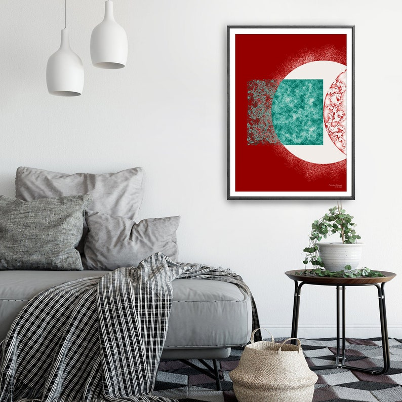 INSTANT DOWNLOAD Art Print in Minimalist Abstract Style Contemporary Wall Painting Unique Gift Simple Artwork