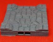 3D Terrain Dungeon 10 x10 Sewer Waterflow 4 Way Intersection Tile (2x2) Dragonlock 28mm