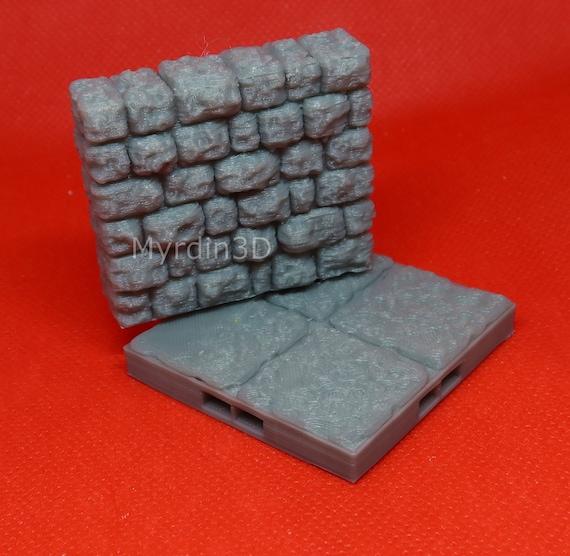 Dragonlock 28mm 3D Terrain Dungeon Ruined Wall 1