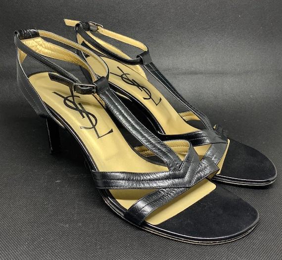 YSL black sandal