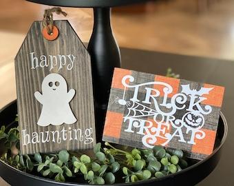 Tiered Tray Decor, Halloween Decor, Halloween Tiered Tray, Fall Decor, Fall Tiered Tray Decor, Halloween Sign,