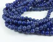 "Lapis Lazuli 8mm round beads, 15-16"" strand, approximately 48 beads"