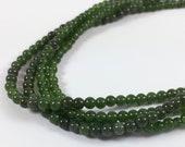 "Jade green dyed quartz beads, 3.5mm, 15"" strand, 140 beads"