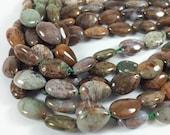 "Ocean jasper puff teardrop beads, 10x15mm, 16"" strand, 27 beads"
