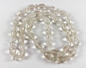"""Antique Bohemian clear faceted beads, 28"""" strand, 65 beads"""