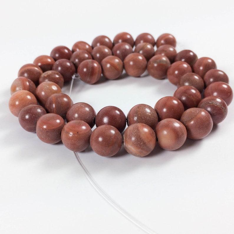 Red malachite 10mm round beads 16 strand 42 beads image 0
