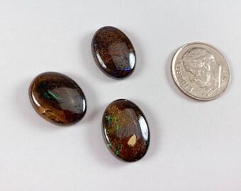Boulder opal oval cabochon, 12x16mm