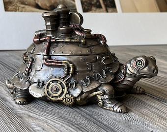 Handmade Steampunk Turtle With Trinket Box