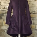 """Coat lined with fairy Elfique """"Elfrith"""" large plum polar cap or other Color Sanlivine"""