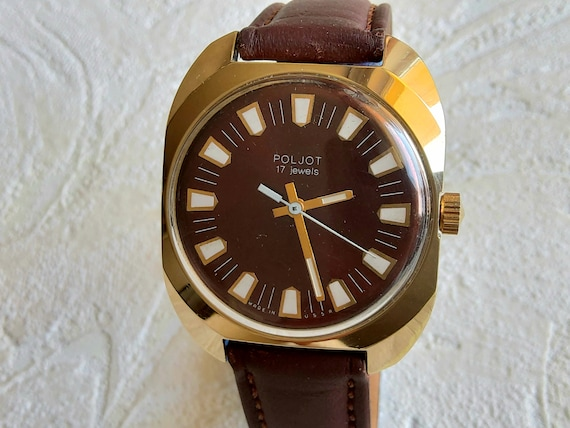 Soviet russian vintage Poljot men's dress watch, 1
