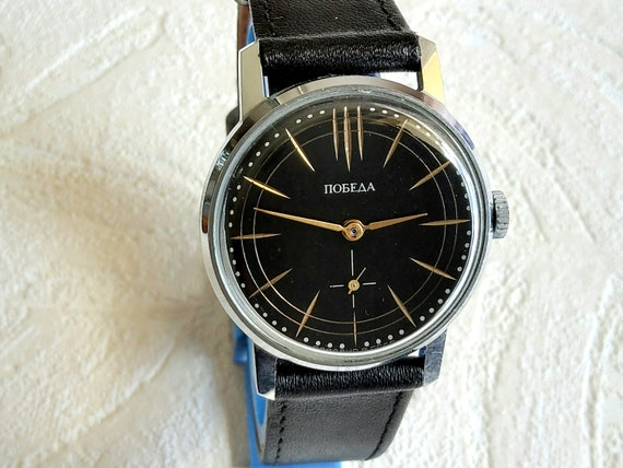 Soviet russian POBEDA  ZIM vintage dress watch, Ca