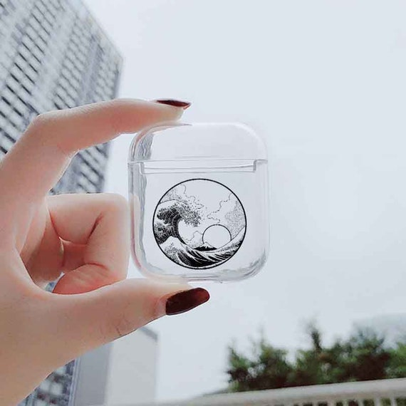 The Wave Off Kanagawa AirPods Case Japan Clear Airpods Case Shock Proof Plastic Apple AirPods Pro Case Japanese Protective Case Hokusai Art