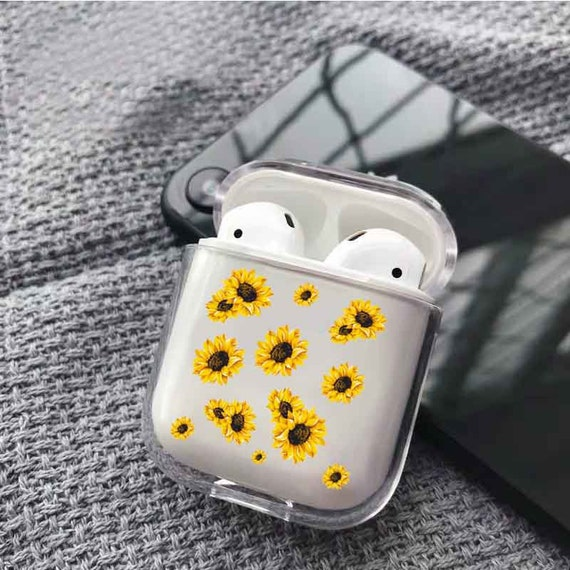 Sunflower Case Floral Airpods Case Clear Airpods Case Design Etsy