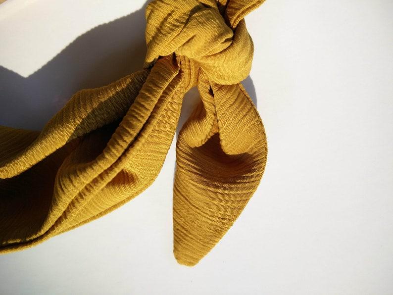 Golden Yello Baby Headbad Baby Headband \\ Accessory \\ Hair Tie \\ Baby Hair Scarf  Baby Turban hairscarves
