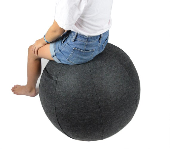 Calcore Covered Yoga Ball Chair For Office And Home Etsy