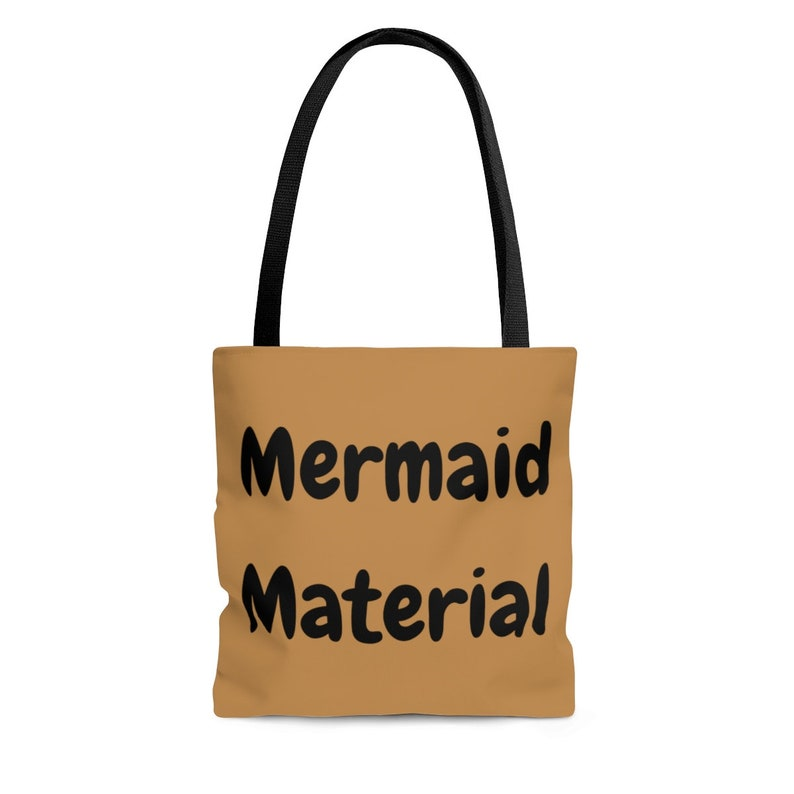 Fashion accessories gift for friend Funny tote bag Mermaid material Tote bag Original Design Tote Typography Sarcastic Canvas Bag