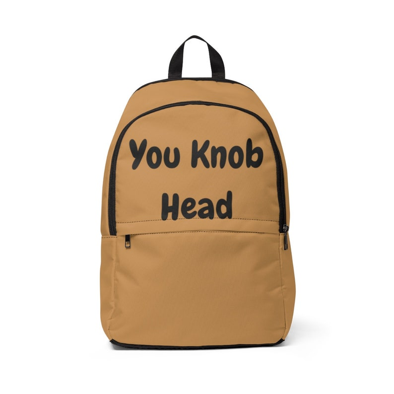 Backpack School Bag Rucksack Sports Travel You knob head Tumblr Funny Hipster Grunge Fun Festival Retro Goth Kawaii Cute Fashion