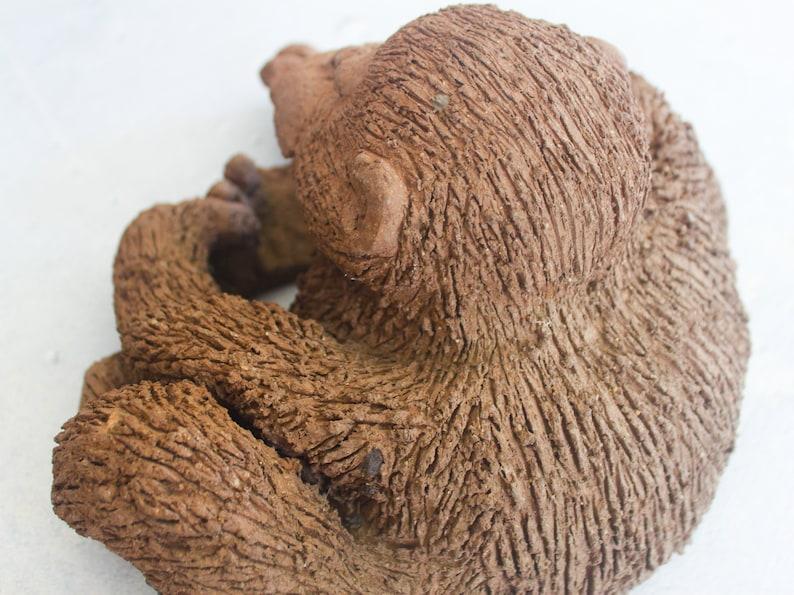 Large Clay Chimpanzee Sculpture by Kristi Sakamoto